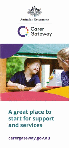 the product image of A DL brochure that explains Carer Gateway and how it can help carers.
