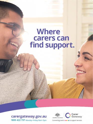 the product image of An A4 poster with contact details for Carer Gateway.
