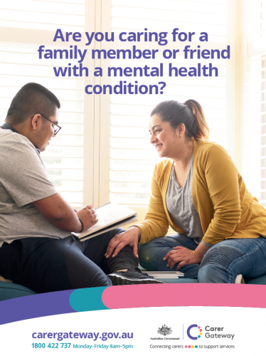 the product image of An A3 poster with contact details for Carer Gateway.