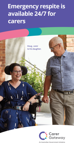 the product image of A flyer that explains Carer Gateway emergency respite